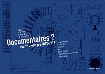 Documentaires ? courts métrages 2012-2013 - Centre images