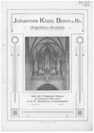 1904 Kaiserslautern, St. Marien - Orgelbau Klais Bonn