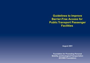 Guidelines to Improve Barrier-Free Access for Public Transport ...