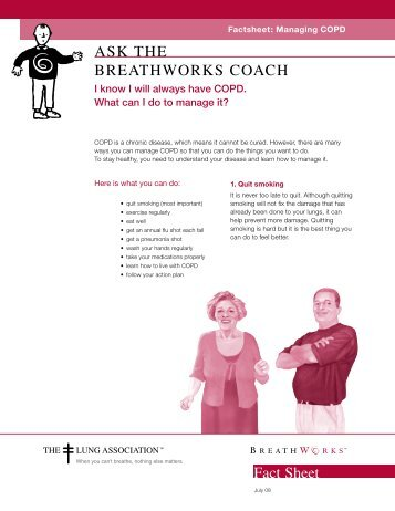 Managing COPD - Canadian Lung Association