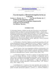 Fasciola hepatica y Distomatosis hepática bovina en Venezuela