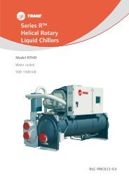 Series R™ Helical Rotary Liquid Chillers - Trane