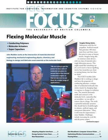 FOCUS Fall 2003 - ICICS - University of British Columbia