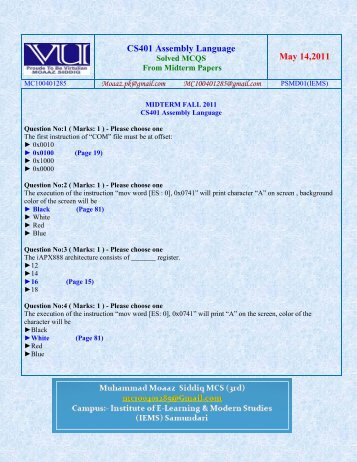 cs501 solved final term papers Solved 3 papers files cs 501 mid term solved 5 papers files cs 501 mid term solved gigha files by moaz cs 501 mid solved subjective cs 501 mid term solved papers megha file solved papers just one click dear all broken links are recoverd please visit vubahawalpurblogspotcom for mo.