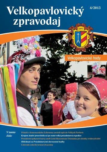 Velkopavlovický zpravodaj IV/2013 - barevná obálka - Město Velké ...