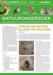 Natuuronderzoek 2012 03 - Waternet