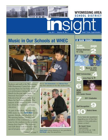 Music in Our Schools at WHEC - Wyomissing Area School District