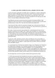 LA DECLARATION COMMUNE SUR LA PRODUCTIVITE (1959 ...