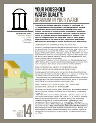Uranium in Your Water - Agricultural and Environmental Services ...