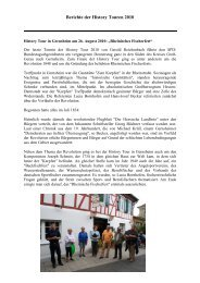 History Tour 2010 - Gerold Reichenbach
