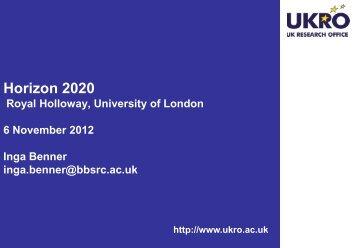 Horizon 2020 - Royal Holloway, University of London