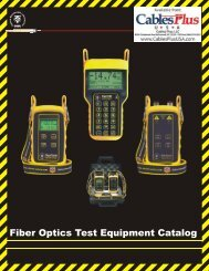 Fiber Optics Test Equipment Catalog - Cables Plus USA