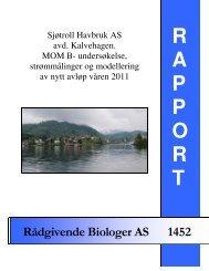 Sjøtroll Havbruk AS avd. Kalvehagen. MOM B - Rådgivende ...