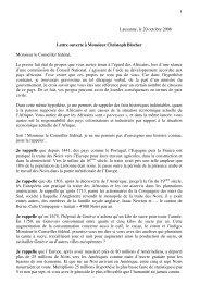 Lettre Ouverte à Monsieur Blocher, Conseiller fédéral ... - CRAN