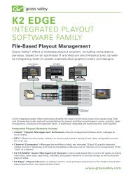 K2 Edge Integrated Playout Software Family - Rexfilm