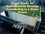 Green Roofs - Cornell University