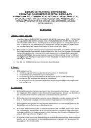 STATUTEN - Bildung Detailhandel Schweiz (BDS)