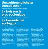 PDF: Umweltfreundlichster Durstlöscher - SVGW