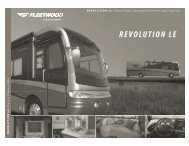 2006 Fleetwood Revolution LE Flyer PDF with Floorplans and Specs