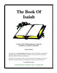 The Book Of Isaiah - Executable Outlines