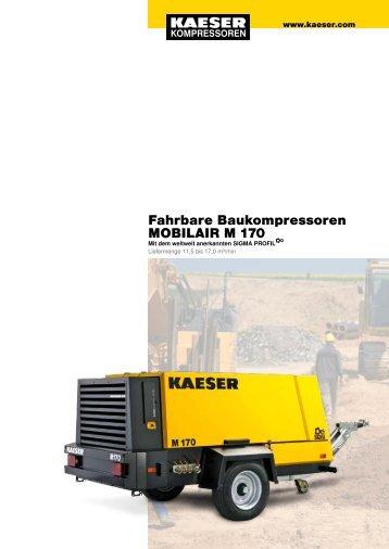 Fahrbare Baukompressoren MOBILAIR M 170