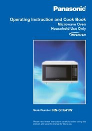 Panasonic NN-ST641W 32Litre Microwave User Manual Download