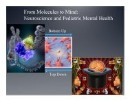 From Molecules to Mind: Neuroscience and Pediatric Mental Health