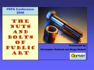 The Nuts and Bolts of Public Art