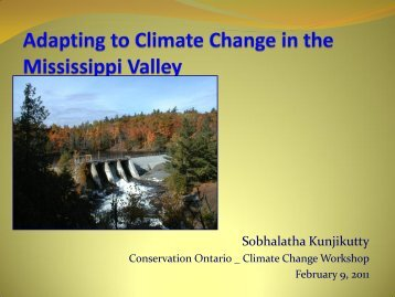 Adapting to Climate Change in the Mississippi Valley
