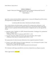 LINGUA TEDESCA 1 Lingue e Culture per il Management Turistico ...