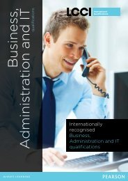 Business, Administration and IT - LCCI International Qualifications