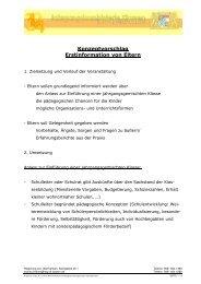 Konzeptvorschlag Elternabend - Schulen in Oberfranken