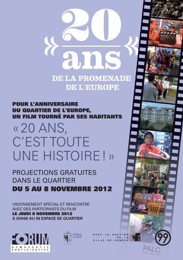 du 5 au 8 novembre 2012 - Ville de Genève