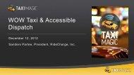 Taxi Magic - WOW Presentation