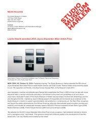2010 Joyce Alexander Wein Artist Prize - The Studio Museum in ...