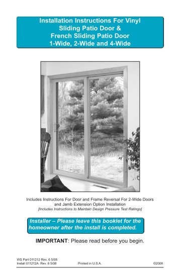 patio door installation guide 2