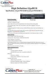 24 port P/N HZ 6001-1 - Cables Plus USA