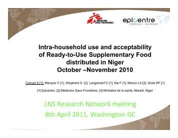 LNS Research Network meeting 8hA il2011 W hi DC 8th April 2011 ...