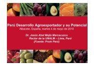 Perú Desarrollo Agroexportador y su Potencial