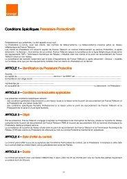 Conditions Spécifiques Conditions Spécifiques ... - Orange mobile