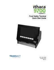 Ithaca 9700 Quick Start Guide - TransAct