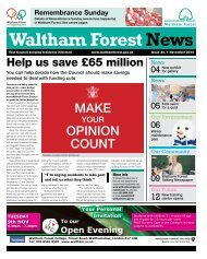Issue 30: Help us save £65 million - Waltham Forest Council