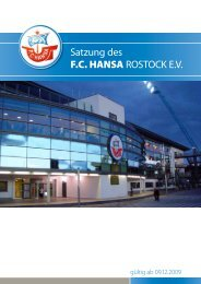 Satzung des F.C. HANSA ROSTOCK E.V.