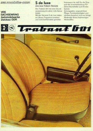 Trabant 601S de luxe - Original-Trabant.de