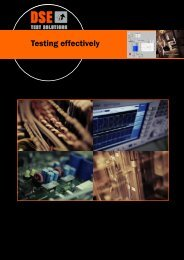 Testing effectively - DSE Test Solutions