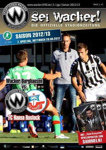 FC Hansa Rostock Wacker Burghausen vs. - wacker1930.de