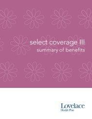Select Coverage III 5000 - Lovelace Health Plan