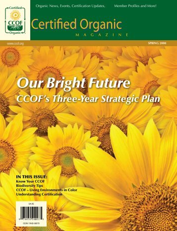 Our Bright Future CCOF's Three-Year Strategic Plan