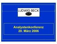 Analystenkonferenz 20. März 2006 - Ludwig Beck