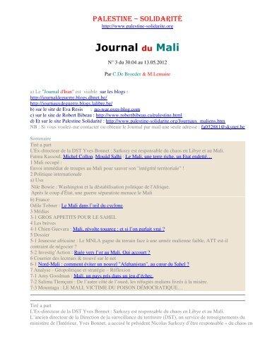 Journal du Mali n° 3 (pdf) - Palestine Solidarité